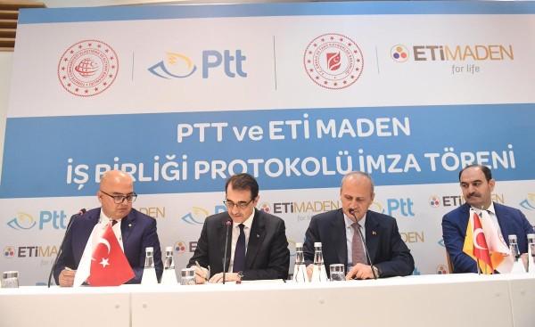 PTT ile ETİ Maden İşletmeleri işbirliği protokolü imzalandı