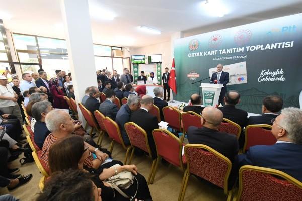 PTT-Tarım Kredi Ortak Kart Projesi'nin ilk uygulaması Trabzon'da yapıldı