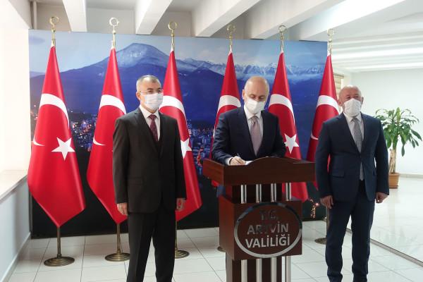 Ulaştırma ve Altyapı Bakanı Adil Karaismailoğlu Artvin'de Önemli Açıklamalarda Bulundu